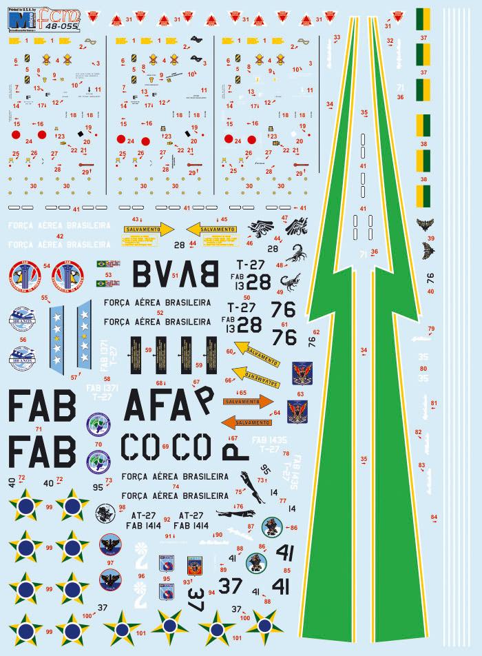 Esquadrilha da Fumaça Embraer T-27 Tucano Brazilian Air Force aircraft sticker